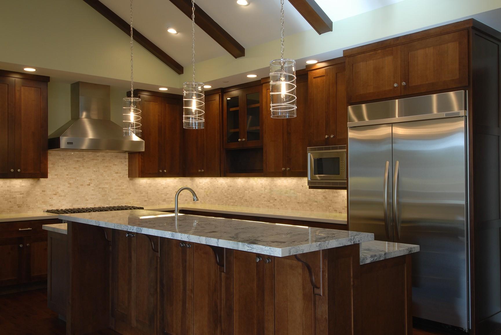 Wade Construction 17603 Bruce Ave. Los Gatos – Kitchen Dark